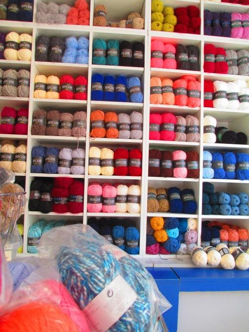 Un grand choix de laines Bergère de France